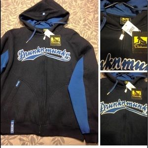 Brand New Drunknmunky Hoodie Size Large NWT